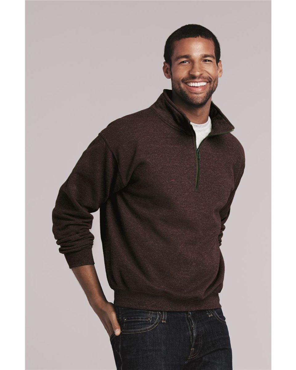 b700a052d92 18800 Gildan Adult Heavy BlendVintage 1 4-Zip Cadet Collar Sweatshirt