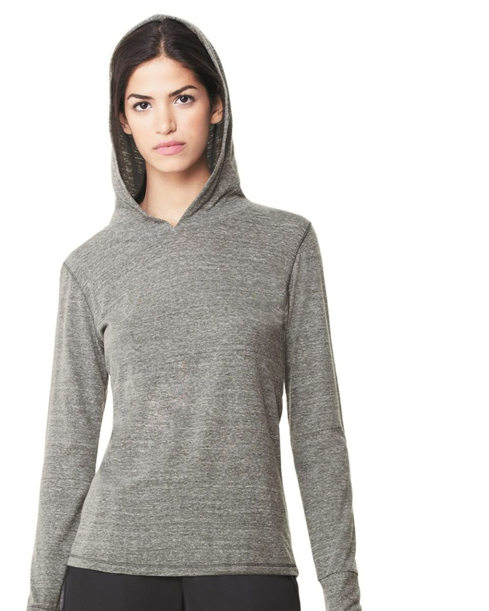 c3cc96ba94b00 W3101 All Sport Ladies Triblend Thumbhole Hooded T-Shirt