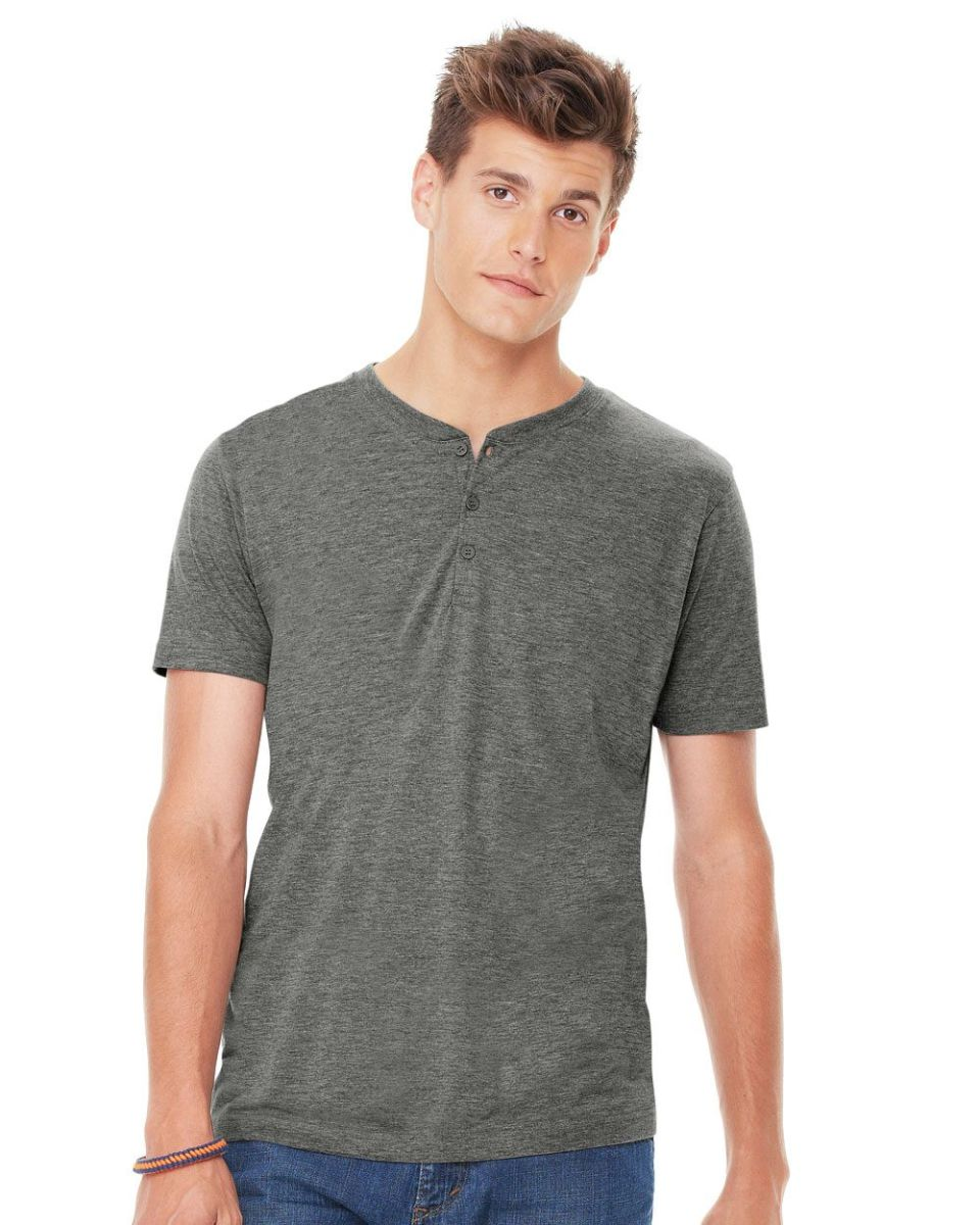 d6fe03324450 Mens Tees · Fall Favorites · Poly Blend · Bella + Canvas · Tri-Blend ·  Cotton Blend · BELLA+CANVAS 3125 Short Sleeve Henley