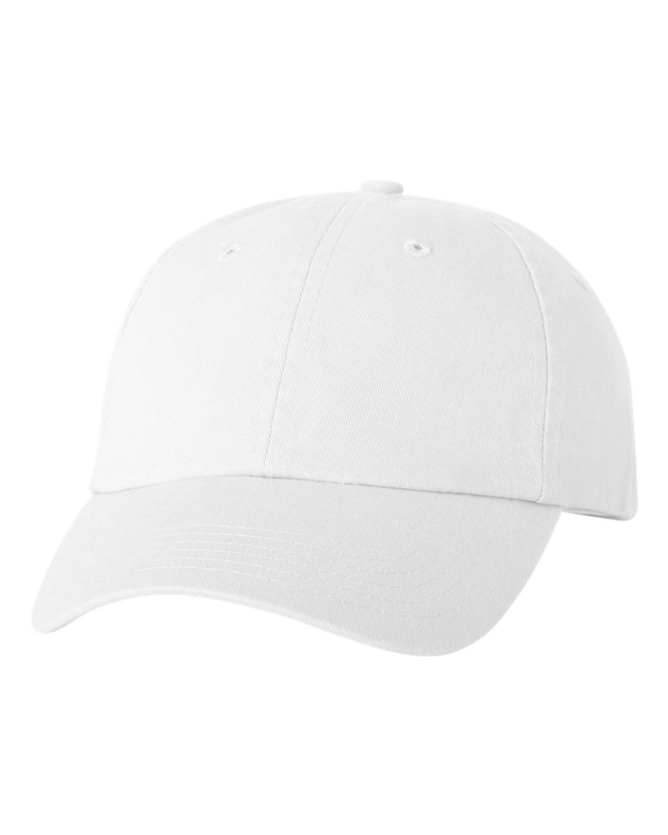 706cc854b05 Valucap VC300 Adult Washed Dad Hat White ...