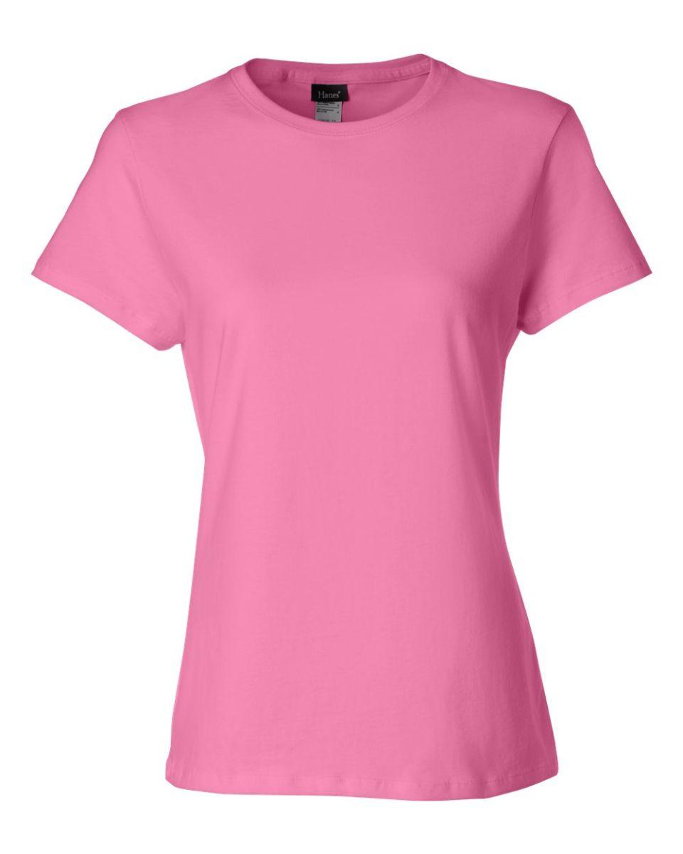 2026acea ... Hanes Ladies Nano T Cotton T Shirt SL04 Pink ...