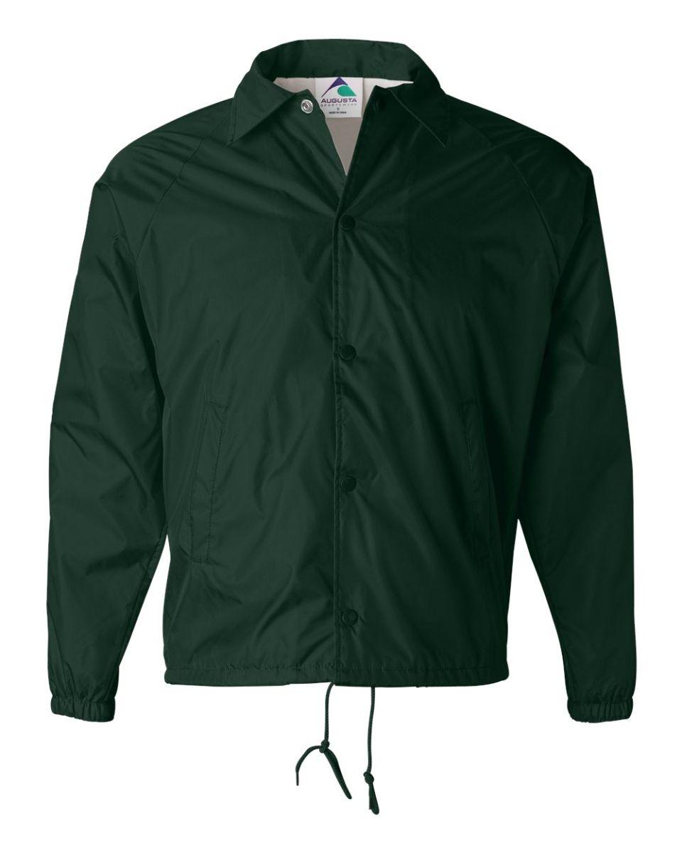 ea4db66a50c ... 3100 Augusta Sportswear Nylon Coach s Jacket - Lined Dark ...