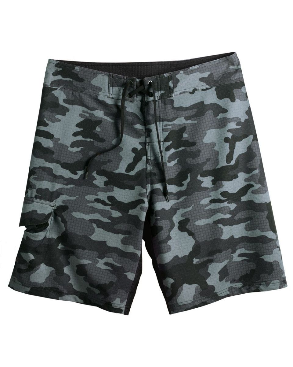 36c49ecc7b Burnside B9371 Camo-Diamond Dobby Board Short