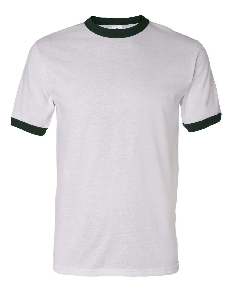 9a967b1a48 ... 710 Augusta Sportswear Ringer T-Shirt White/ Dark Green ...