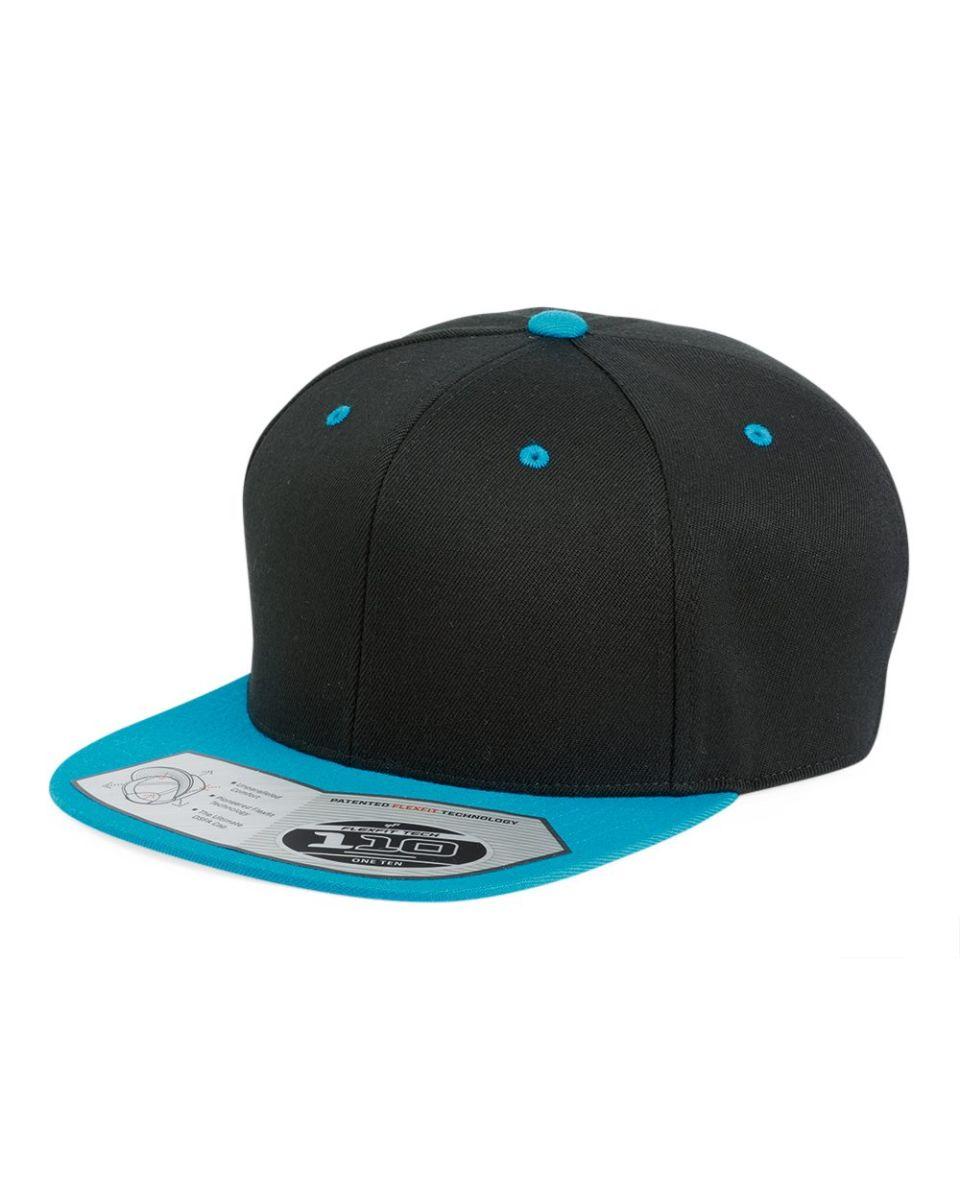 d73379bc7b3 110F Flexfit Wool Blend Flat Bill Snapback Cap