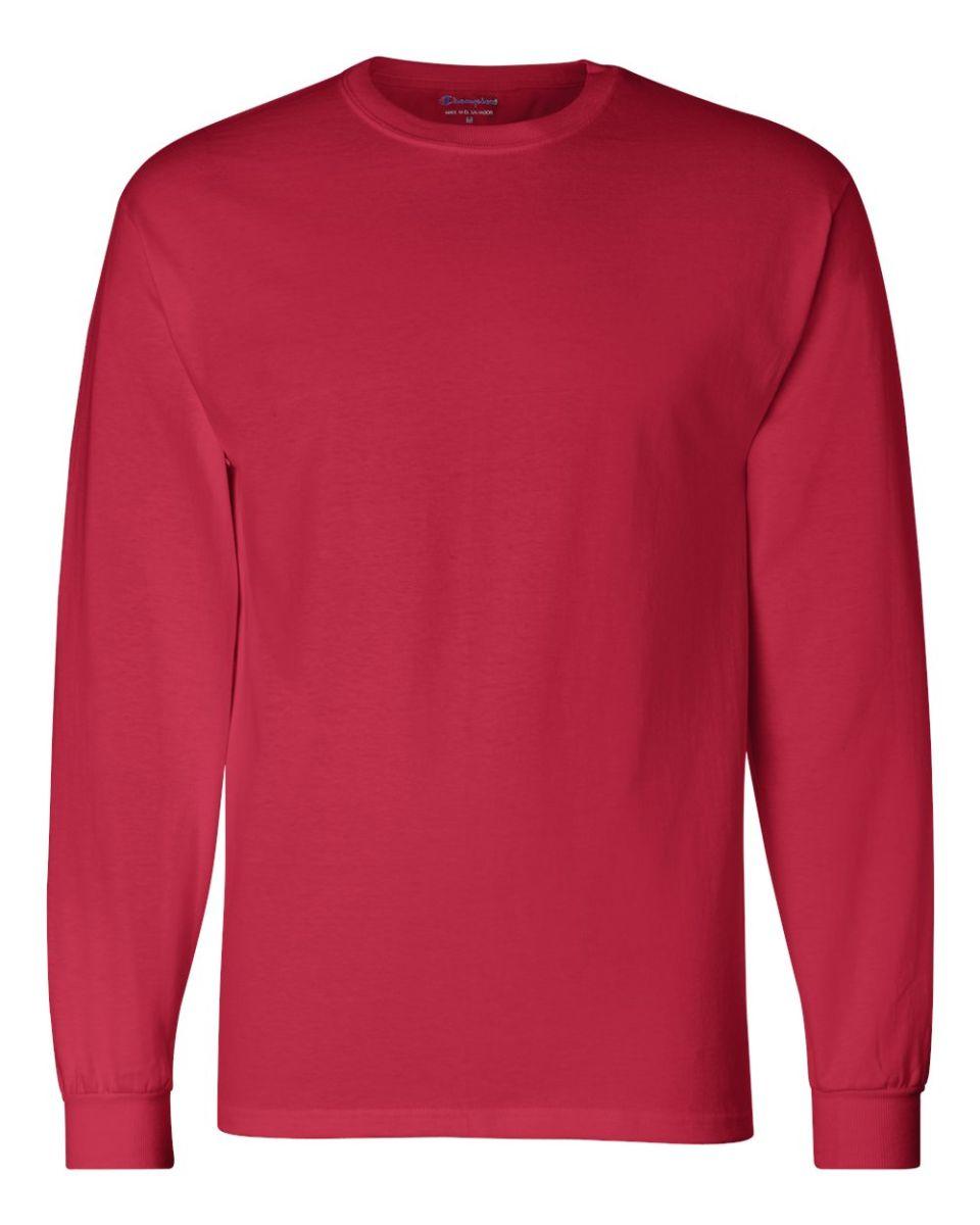 24e6962f8ce6 ... CC8C Champion Logo Long-Sleeve Tagless Tee Red ...