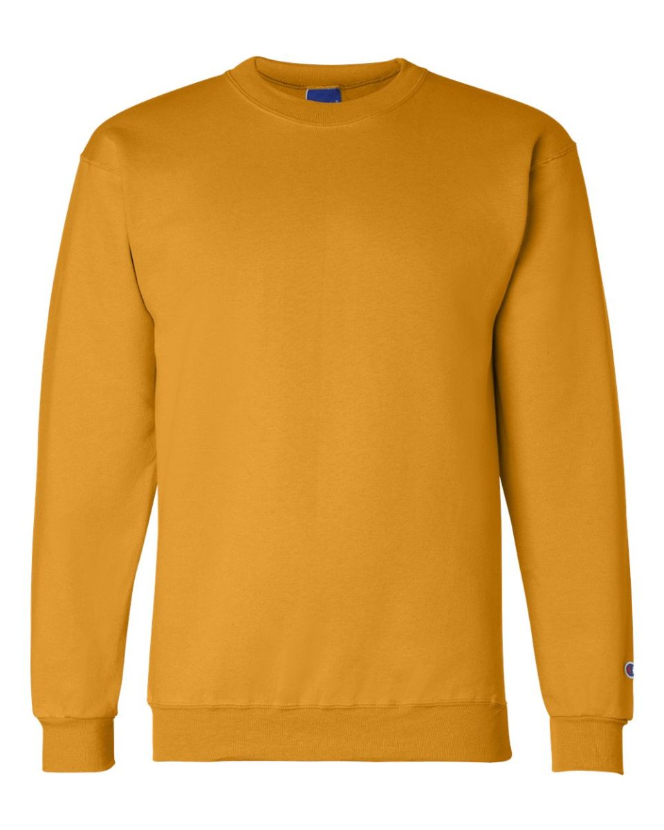 23b0507d ... S600 Champion Logo Double Dry Crewneck Pullover Gold ...
