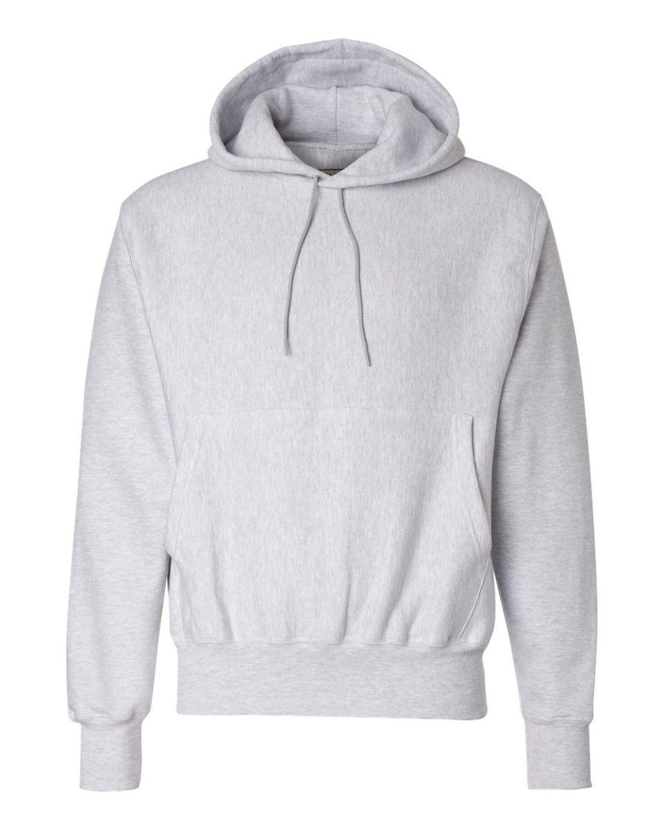 34715f7f1 ... S1051 Champion Logo Reverse Weave Hoodie Silver Grey ...