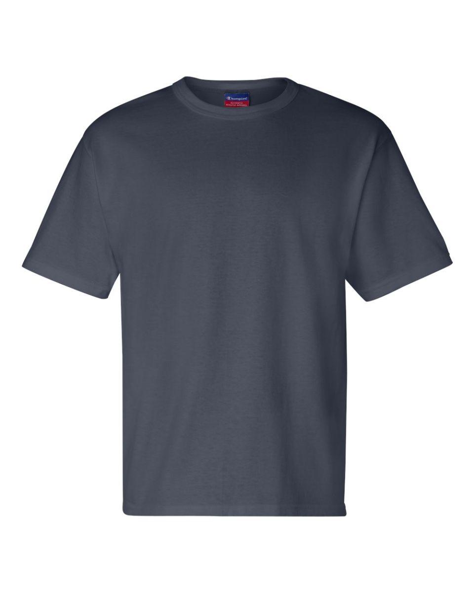 da54d8d6 ... T2102 Champion Logo Heritage Jersey T-Shirt Navy ...