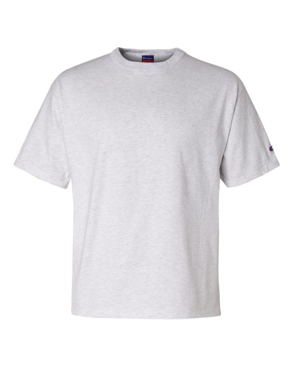 6bf1549596c9 ... T2102 Champion Logo Heritage Jersey T-Shirt Silver Grey ...