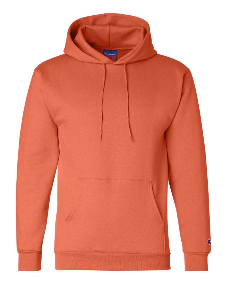 dcfb1e8b2fd5 ... Heather S700 Champion Logo 50 50 Pullover Hoodie Orange ...