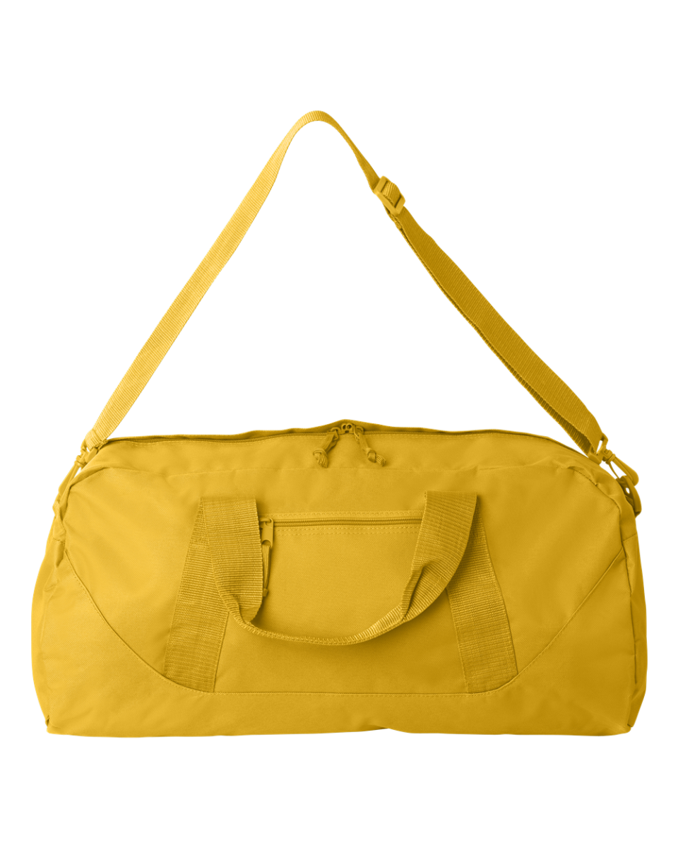 5eec6e453632 ... 8806 Liberty Bags Large Recycled Polyester Square Duffel Bag BRIGHT  YELLOW ...