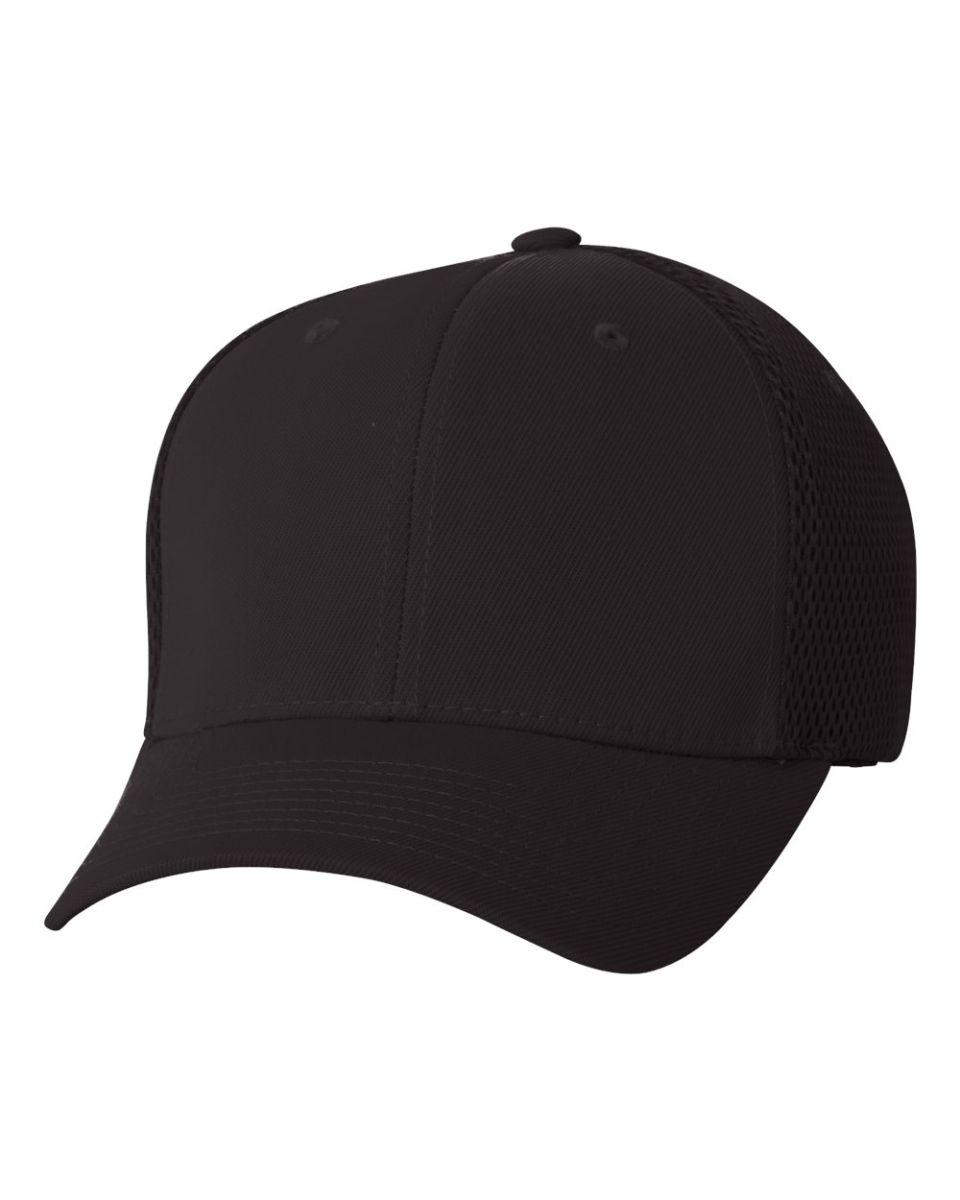8ffc5fd71 Flexfit 6533 Ultrafiber Mesh Cap BLACK ...