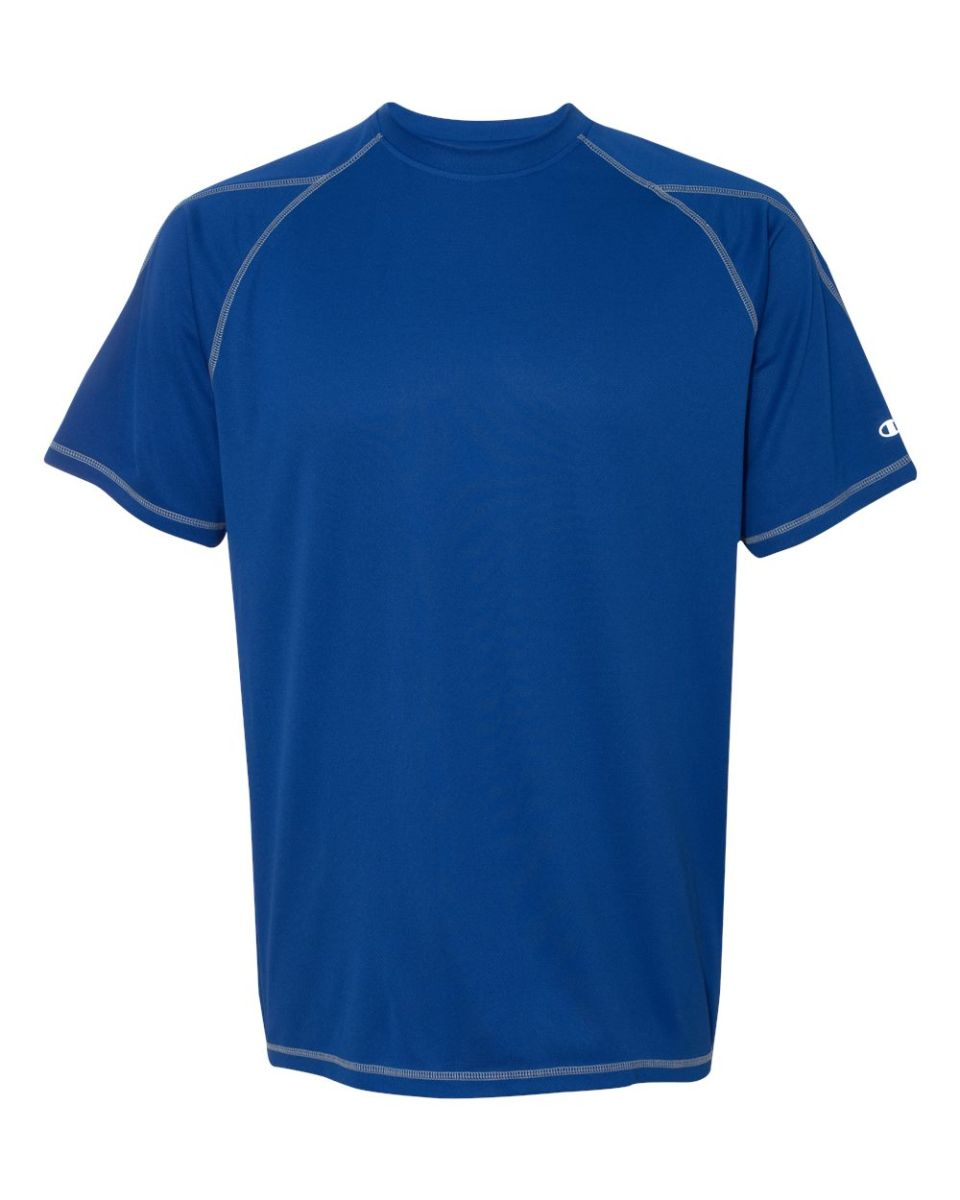 ce538bcb2f61 T2057 Champion 4.1 oz. Double Dry® T-Shirt with Odor Resistance Athletic  Royal ...