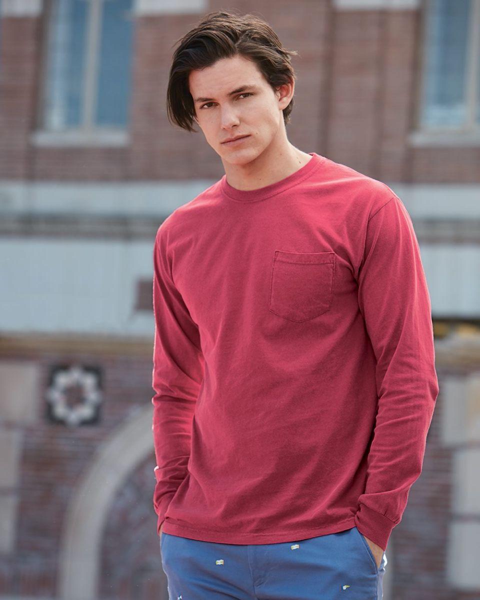 082f79143 4410 Comfort Colors - Long Sleeve Pocket T-Shirt