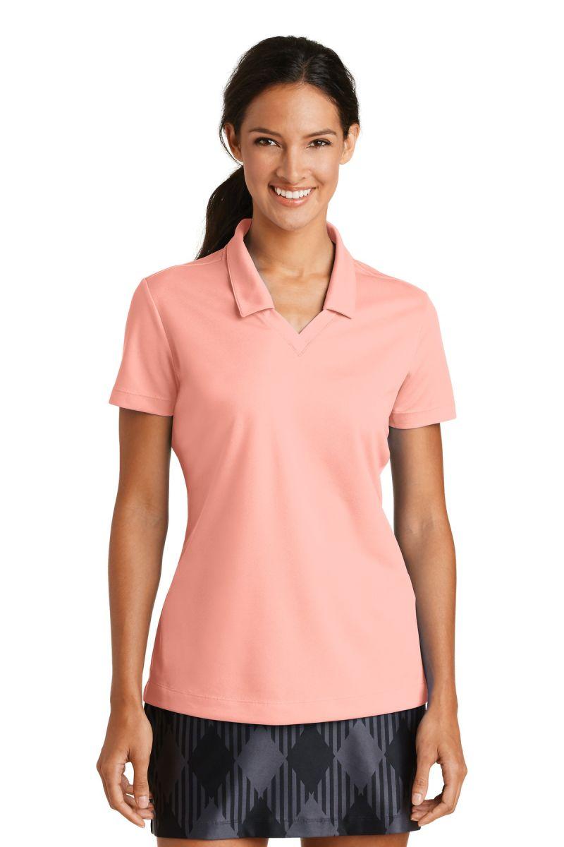 6b94a91a32 ... 354067 Nike Golf Ladies Dri FIT Micro Pique Polo Aluminum Pink ...
