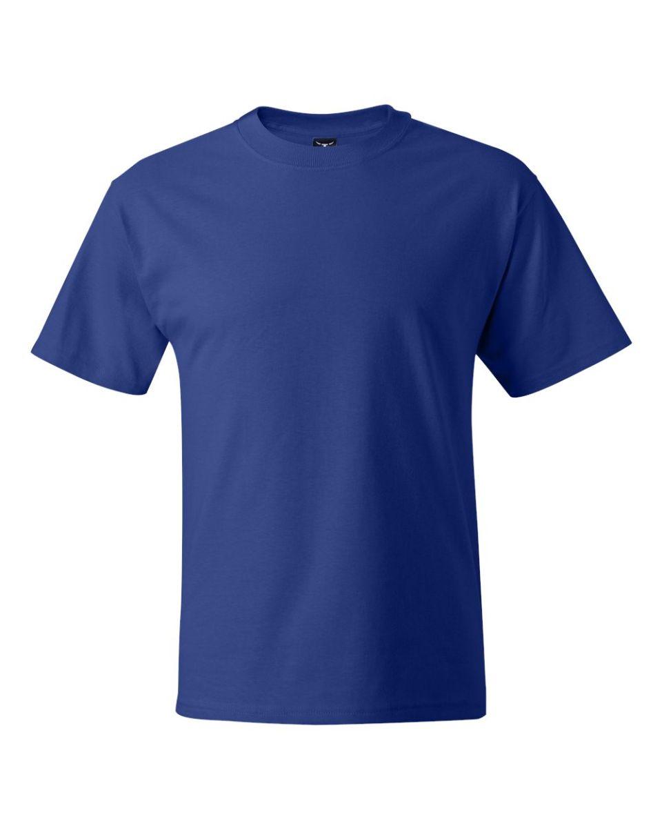 8089e9c7 ... Hanes 518T Beefy-T Tall T-Shirt Deep Royal ...