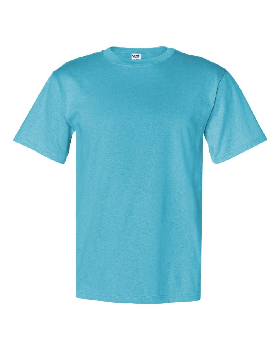 8e50bd2ac02 ... 779 Anvil Heavyweight Cotton Tee with TearAway Tag Pool Blue ...