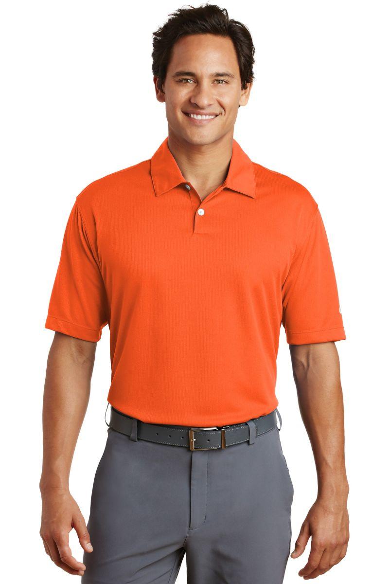 a9241893 ... Nike Golf Dri FIT Pebble Texture Polo 373749 Brilliant Orng ...