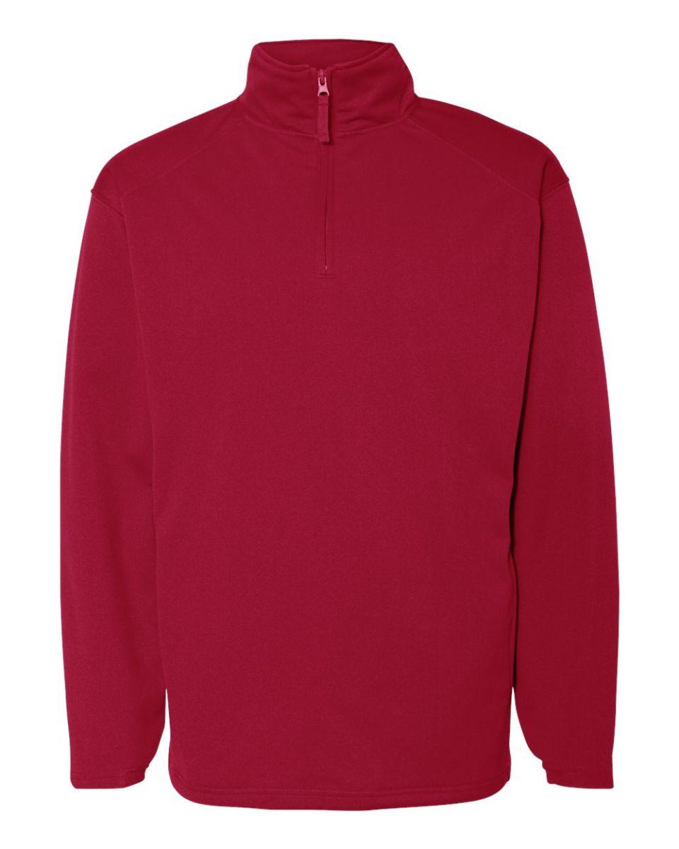a1367f32e6b ... 1480 Badger 1 4 Zip Poly Fleece Pullover Red ...