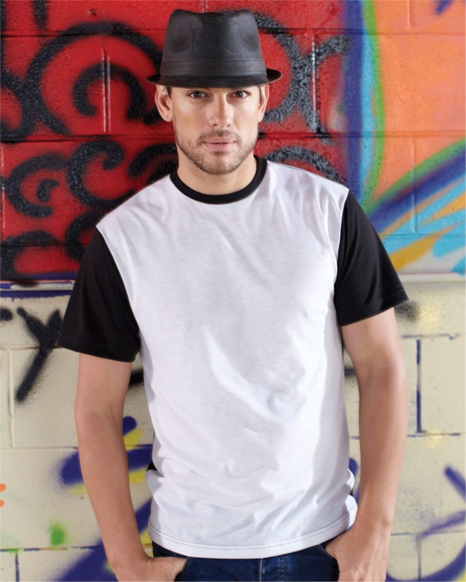 bfb70450 1902 SubliVie Adult Blackout Polyester Sublimation Tee