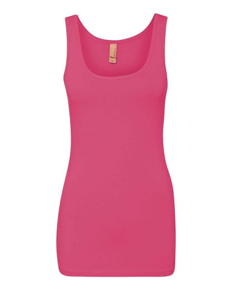 12b0a507f40ae ... Next Level 3533 Jersey Tank HOT PINK ...