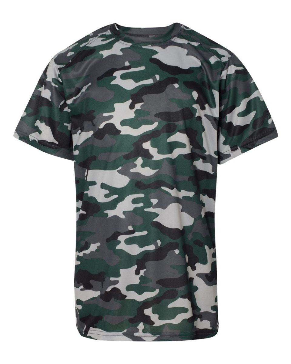 e37a8059 ... 2181 Badger - Youth Camo Short Sleeve T-Shirt Forest ...