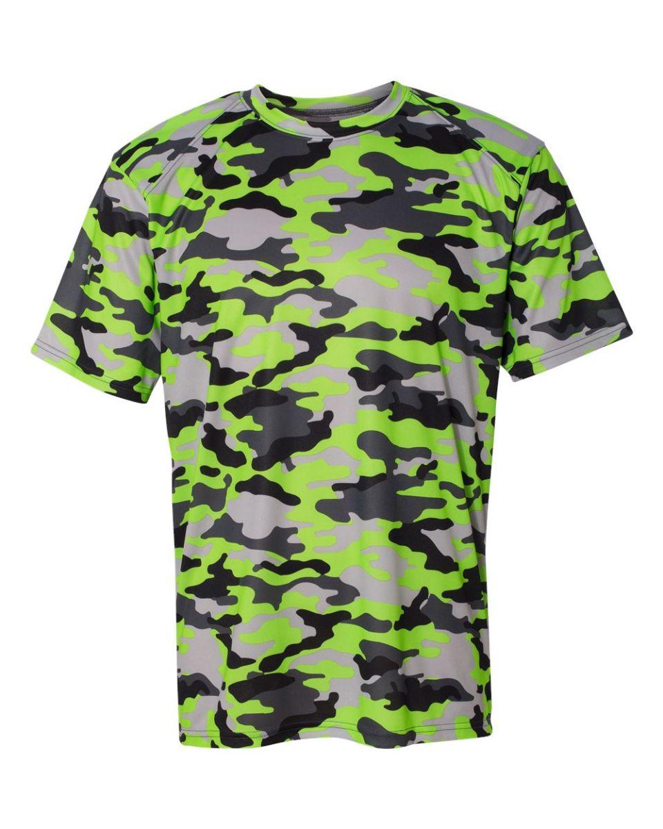 f2466b37 ... 4181 Badger Camo Short Sleeve T-Shirt Lime ...