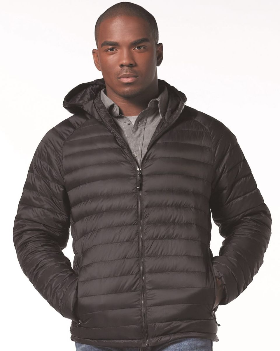 d57a0a4a7cd Weatherproof 17602 32 Degrees Hooded Packable Down Jacket