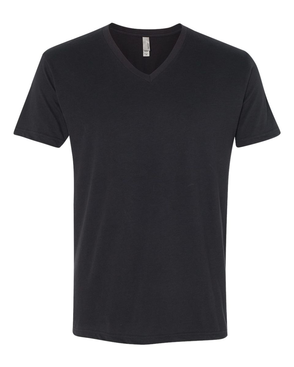 b01cccc03a0 Next Level 6440 Premium Sueded V-Neck T-shirt BLACK ...