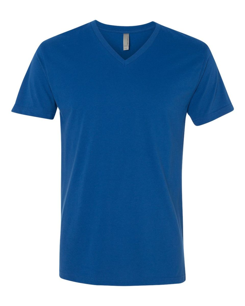 1628f3038a7 ... Next Level 6440 Premium Sueded V-Neck T-shirt COOL BLUE ...