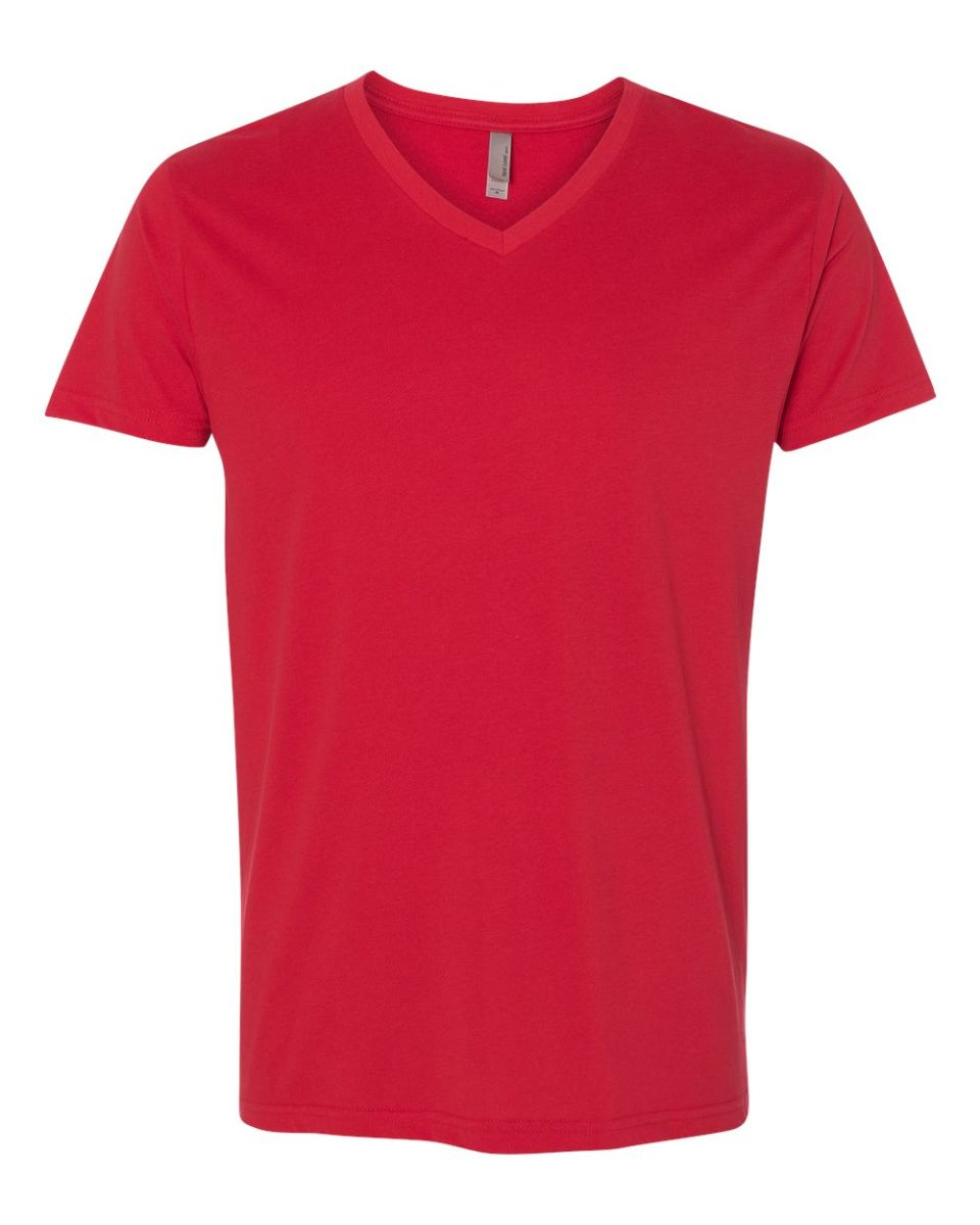 9f5bbf87723 ... Next Level 6440 Premium Sueded V-Neck T-shirt RED ...