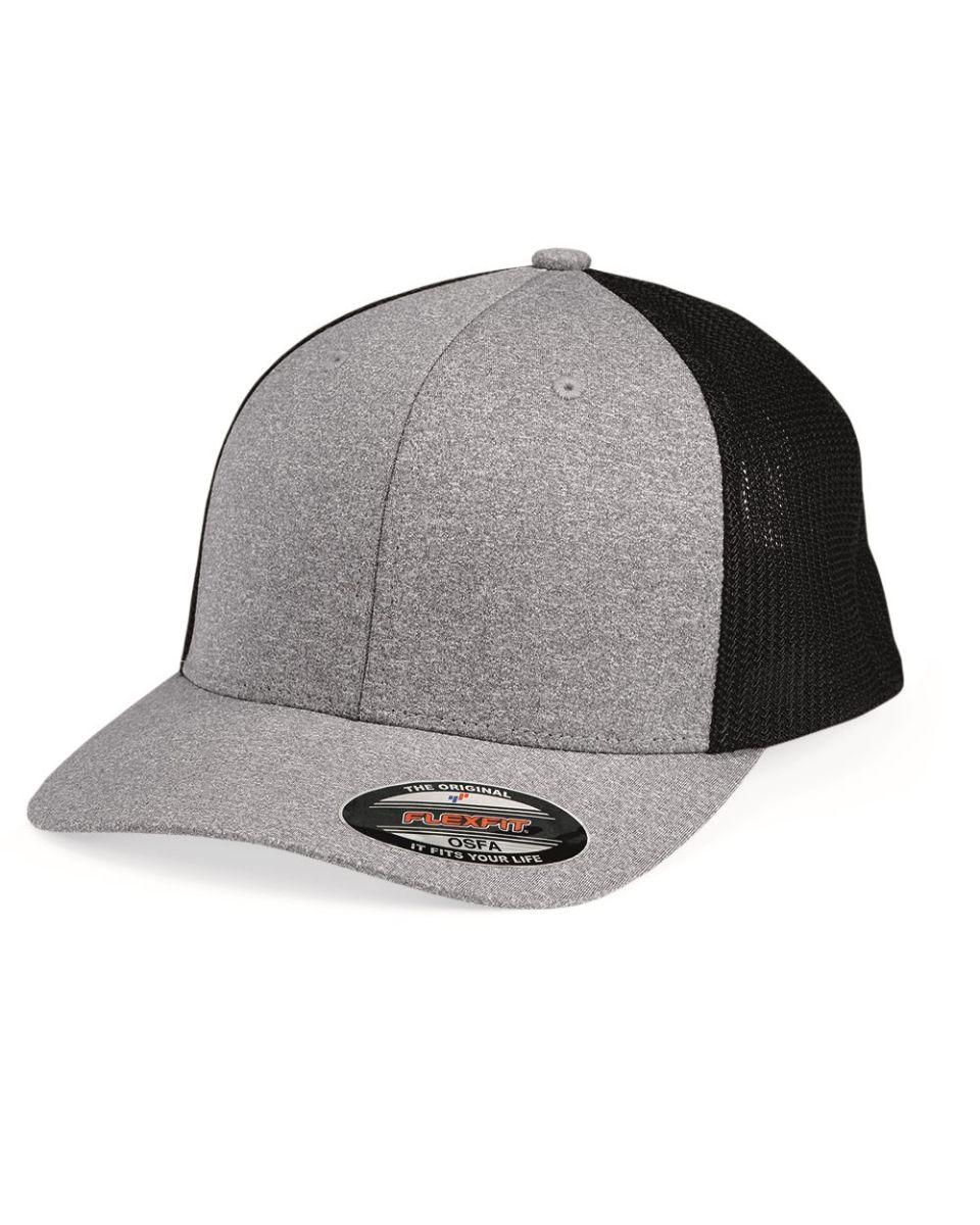 973812694 Flexfit 6311 Melange Mesh Back Trucker Cap