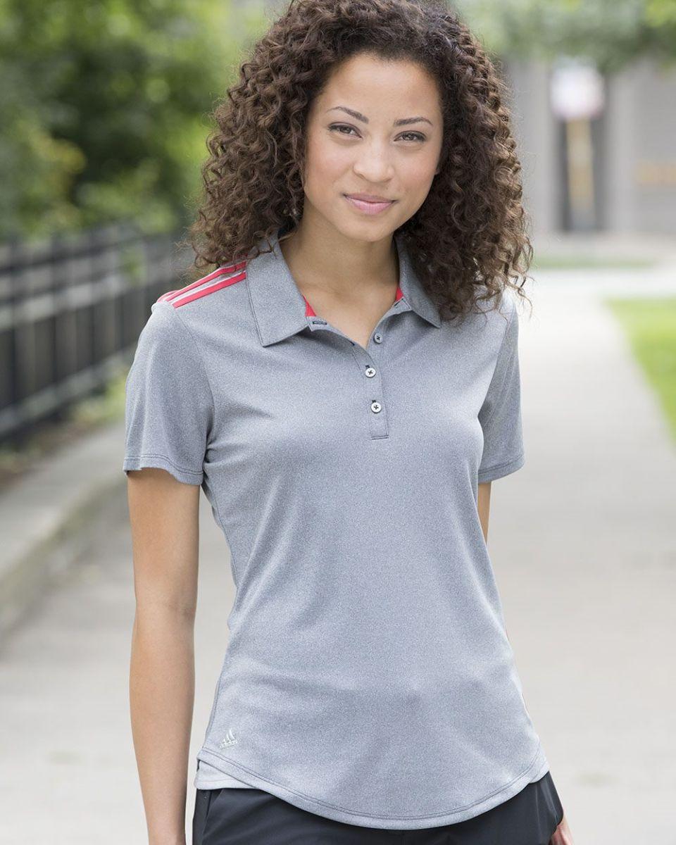 5f3df11529 Adidas A235 Women's Climacool 3-Stripes Shoulder Polo