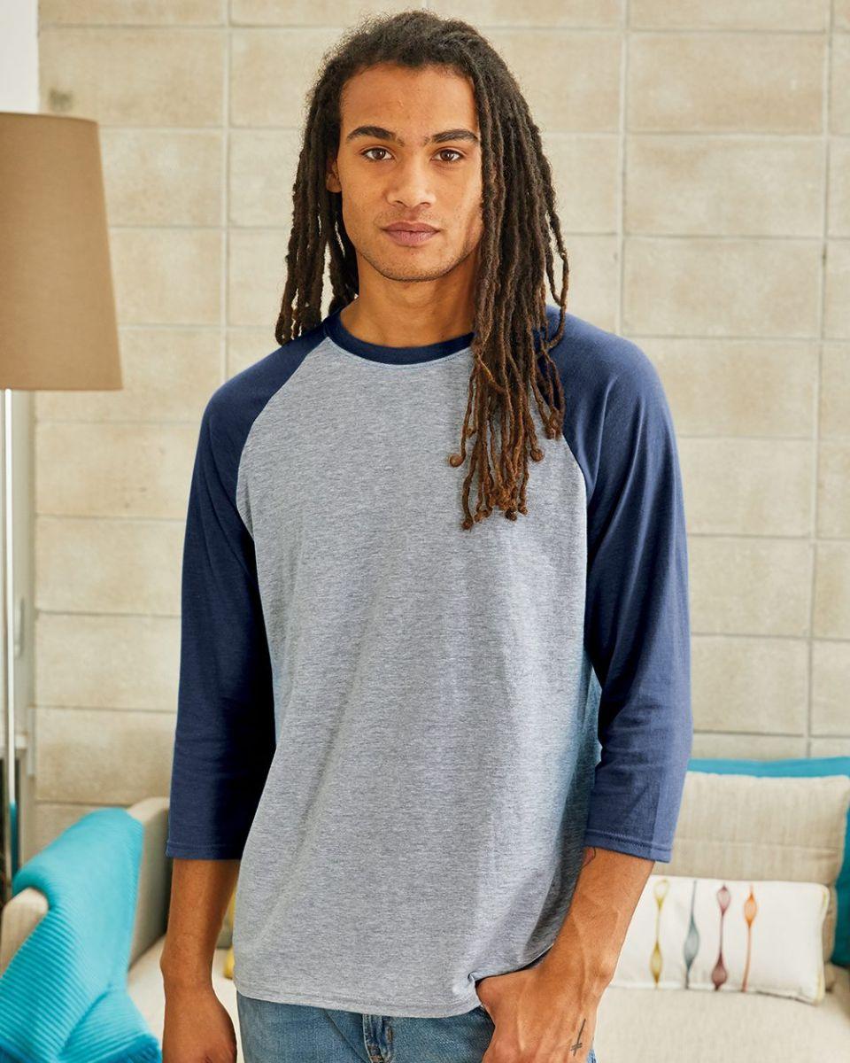 d18d320d5db15b 42BA X-Temp Three-Quarter Sleeve Baseball T-Shirt