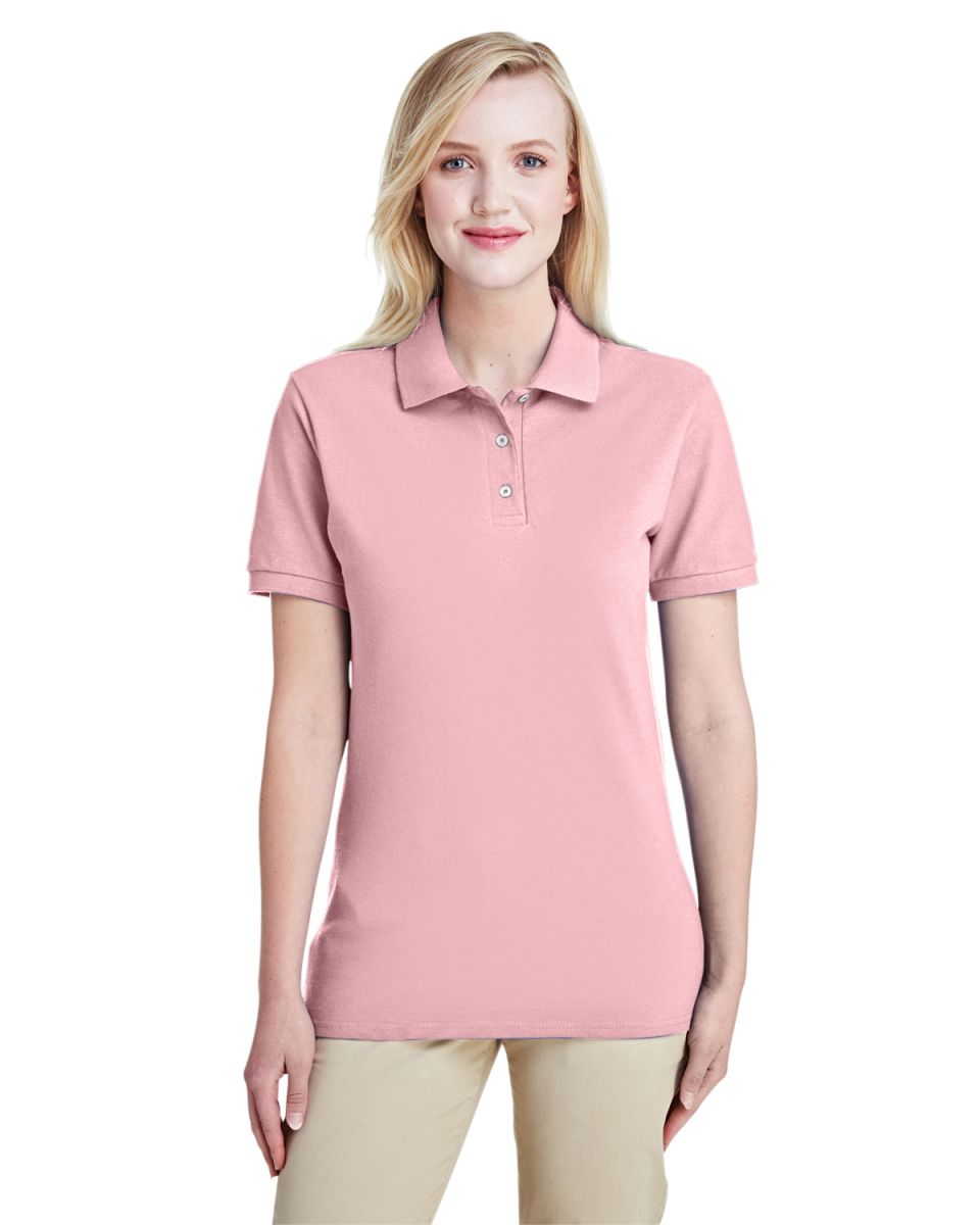 dfaebb7d ... Jerzees 443W Women's Easy Care Double Mesh Ringspun Pique Sport Shirt  Classic Pink ...