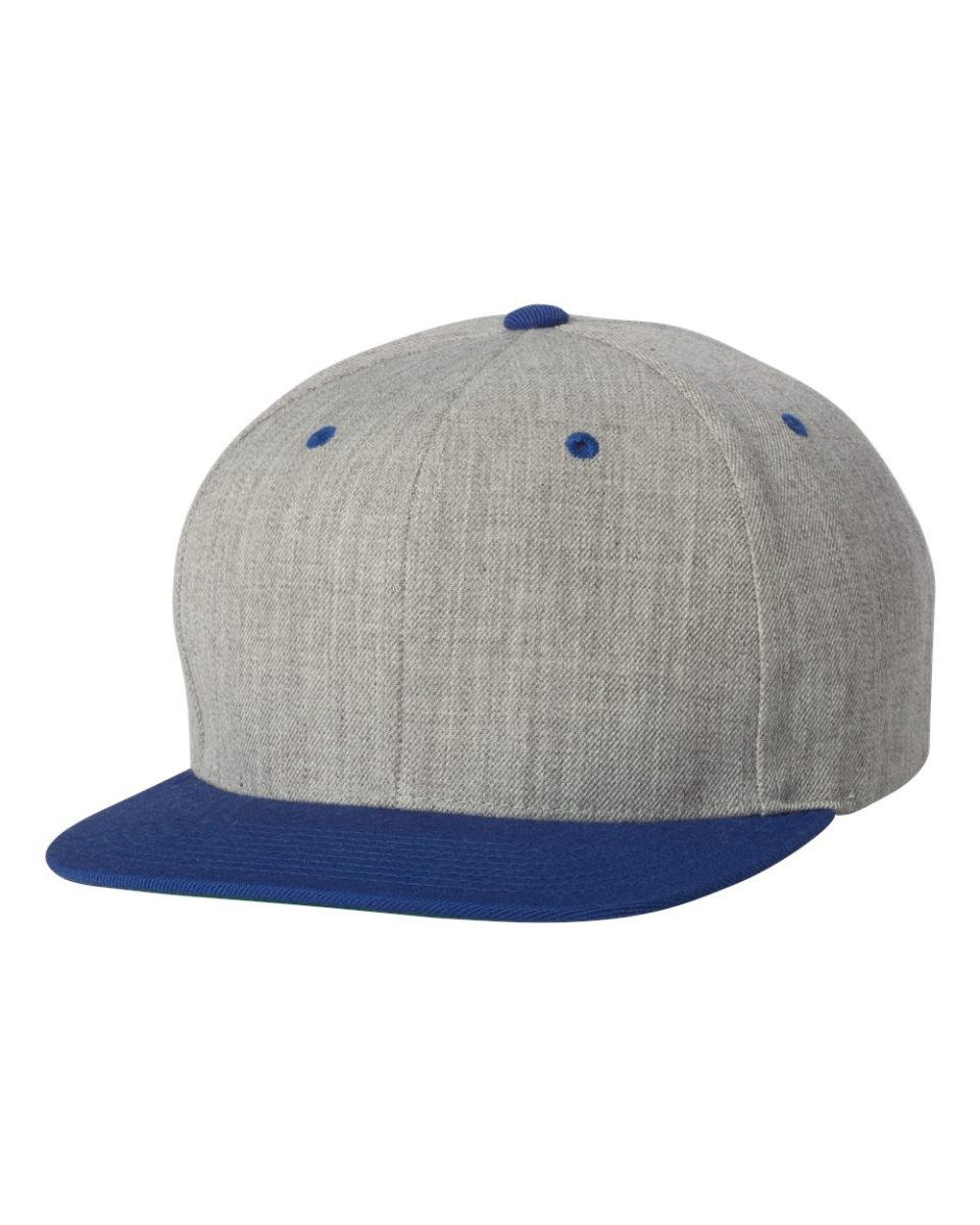 36ca70f4d74 ... 6089M Yupoong Classic Snapback Cap GREEN Under Bill HEATHER  ROYAL ...