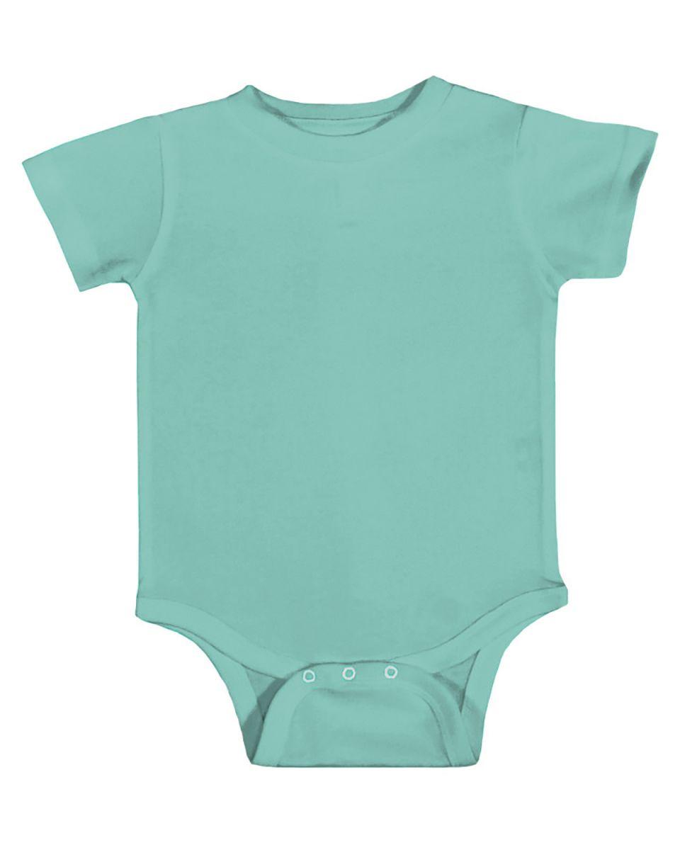 63234ba963 ... Rabbit Skins 4480 The Classic Collection Infant Short Sleeve Bodysuit  CARIBBEAN ...