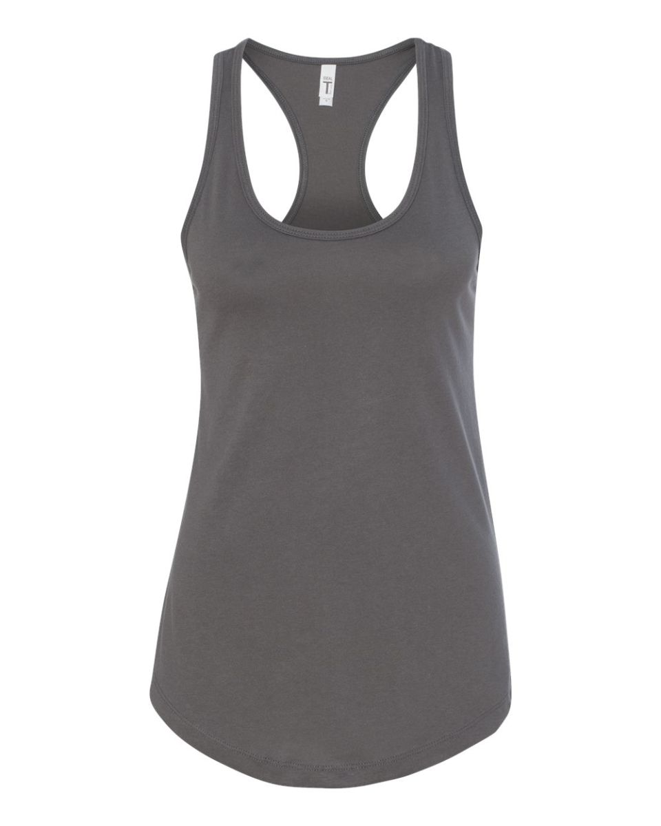 12be73ee39a4eb ... Next Level 1533 The Ideal Racerback Tank DARK GRAY ...