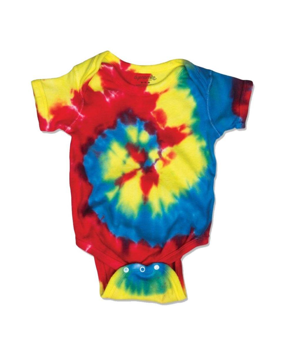 e2869bc744456 Dyenomite 4400MS Spiral Tie Dye Infant