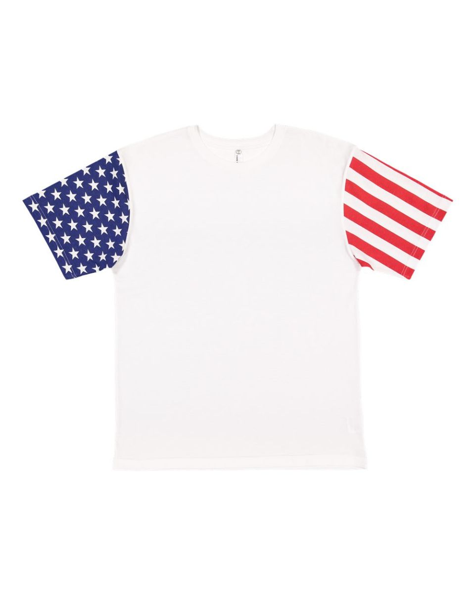 White  T-SHIRT BY stars and stripes 100/%