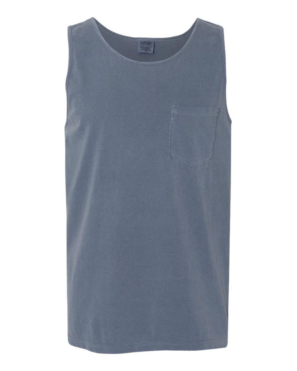 46c3afde532e34 ... 9330 Comfort Colors Adult Pocket Tank Top Blue Jean ...