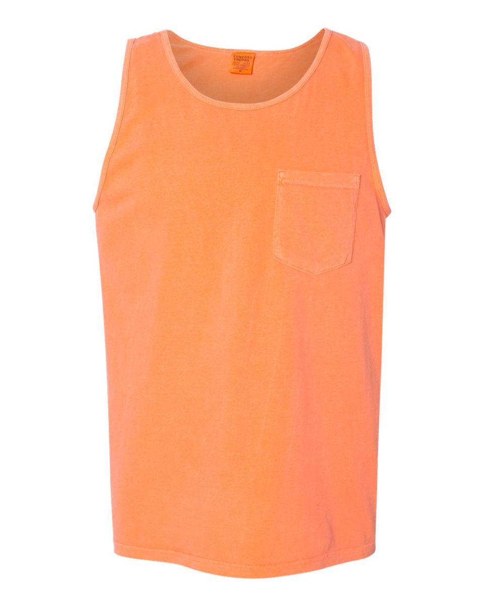100d9f940535af ... 9330 Comfort Colors Adult Pocket Tank Top Melon ...