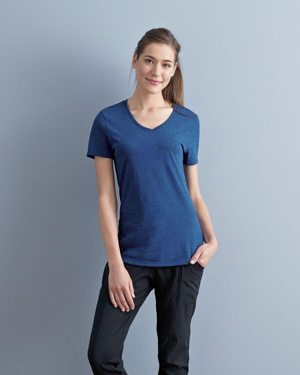 81d77f406de1 Jerzees 601WVR Women s Tri-Blend V-Neck Short Sleeve T-Shirt