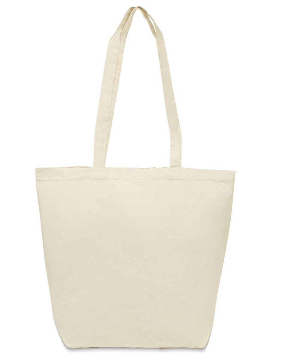c322cb5a6cfb Liberty Bags 8866 Large Gusseted Cotton Canvas Tote