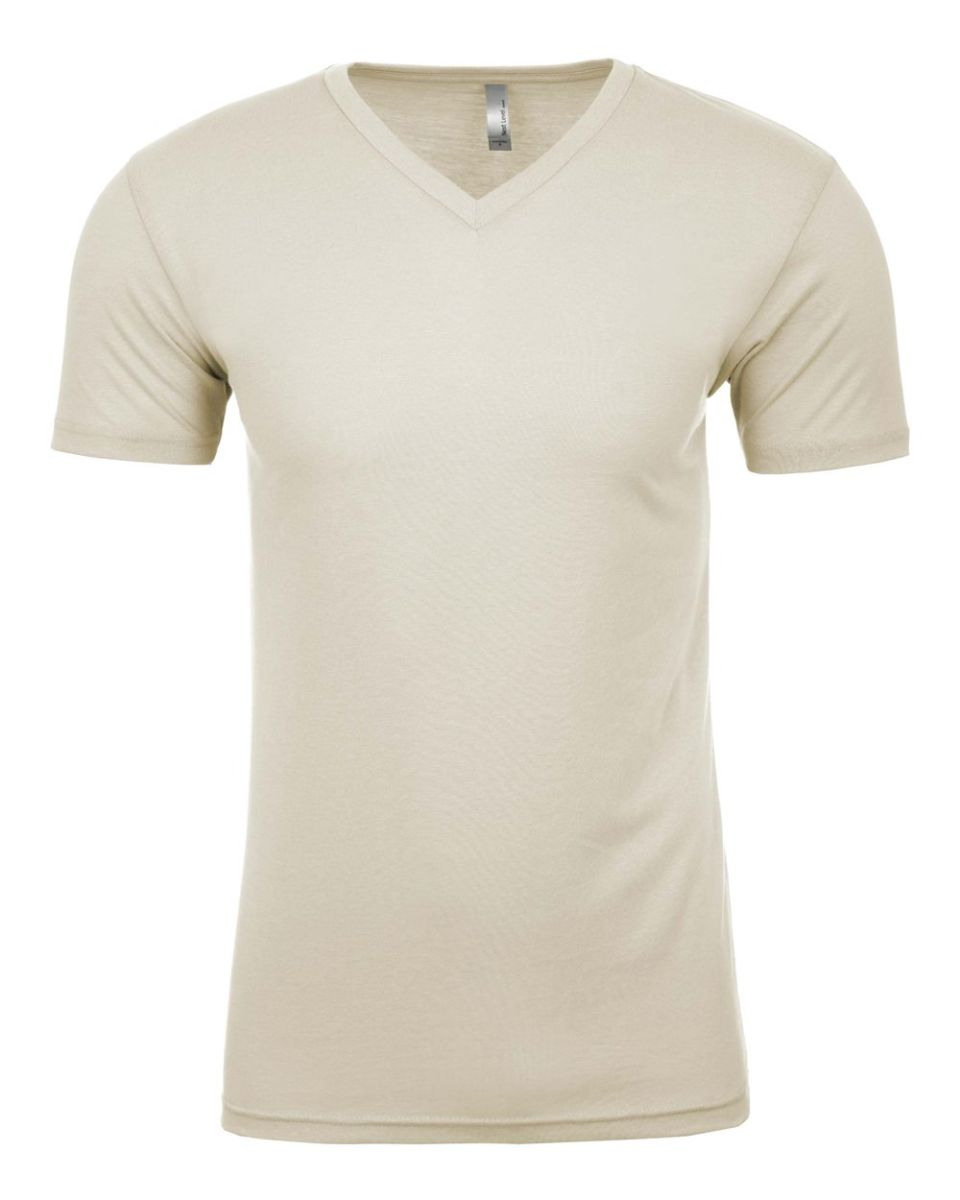 81bf4f6d54e ... Next Level 6440 Premium Sueded V-Neck T-shirt NATURAL ...