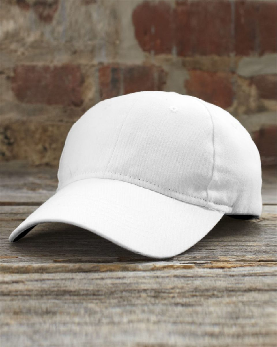 4e36619fc57 136 Anvil Cotton Solid Six-Panel Brushed Twill Cap