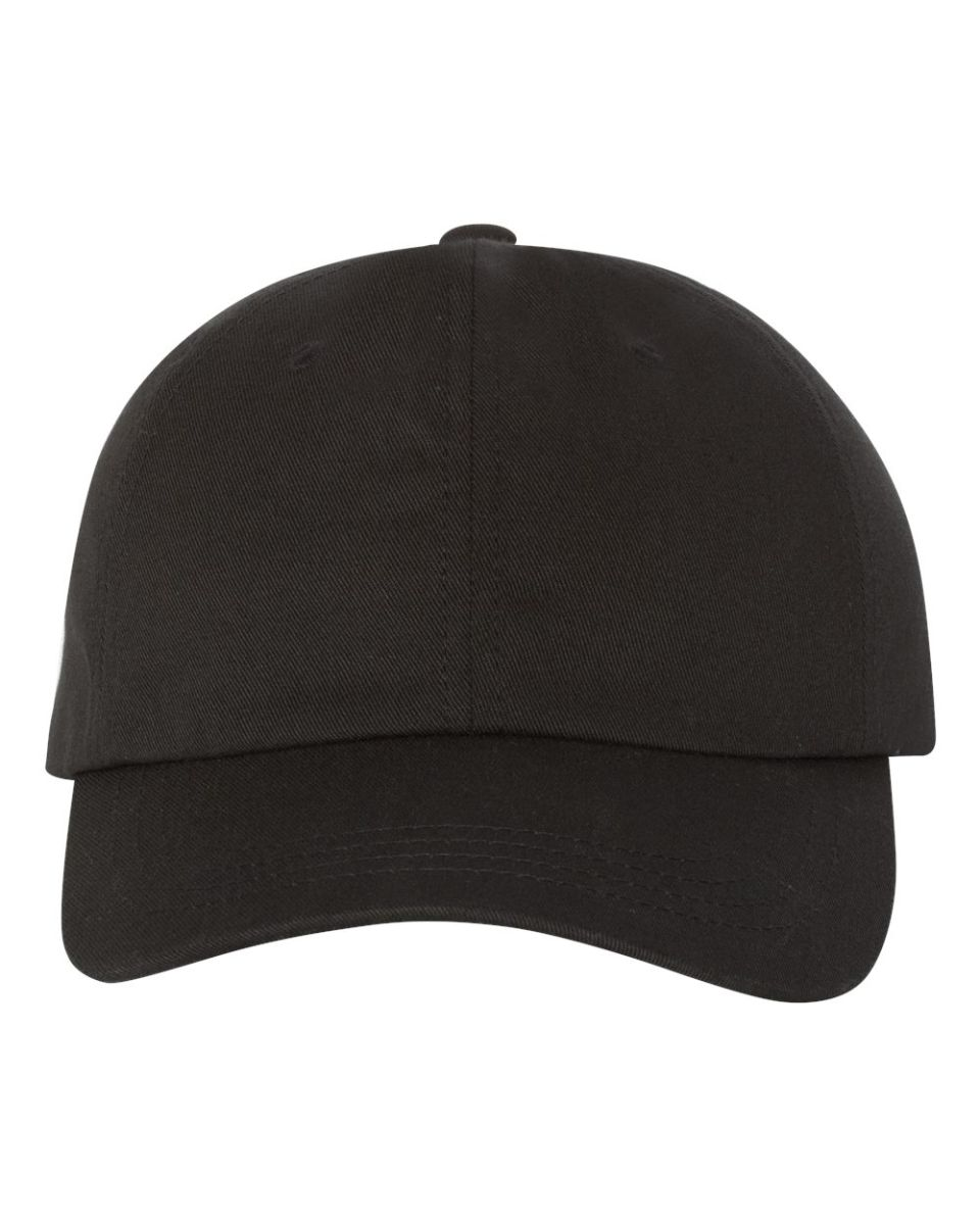 Yupoong 6245CM Unstructured Classic Dad Hat BLACK ... a6800ca4acf1