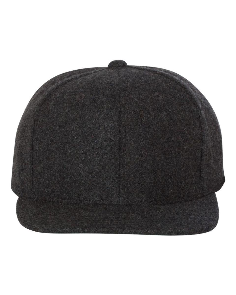 ... Yupoong 6689 Melton Wool Snapback Cap DARK GREY ... 5aa02c8335d