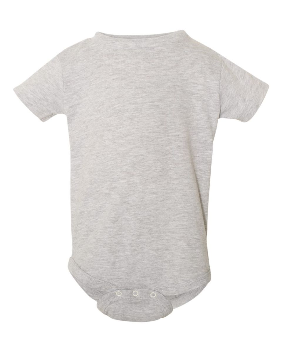 53fae768a4 ... Rabbit Skins 4480 The Classic Collection Infant Short Sleeve Bodysuit  HEATHER ...
